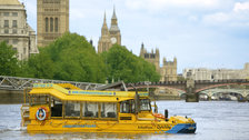 London Duck Tours - DUKW's are half boat/half truck and were the answer to unloading  cargo and men in WWII when dock facilities were destroyed