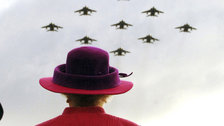 The Queen: Sixty Photographs for Sixty Years - The Queen watches flypast, 2005