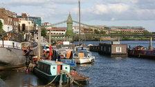 Jubilee Weekend in Hammersmith - Boats by Hammersmith Bridge
