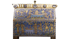 Victoria and Albert (V&A) Museum - Casket for the relics of St Thomas Becket, gilt, copper and champleve on a wooden core, France, about 1180 by © V&A