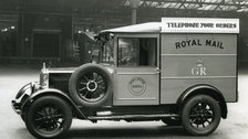 The Postal Museum Opening - A Royal Mail van in the yard at King Edward Building, London, 1934