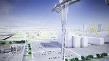 Cable car will be ready for the Games - CGI image of the Emirates AirLine cable car