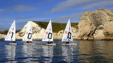 Out of London Venues - Sailing boats prepare for the Games off the coast of Dorset