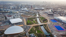Olympic Park Slideshow - Aerial shot of the Olympic Park from the north end facing south