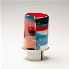 Ceramic Art London - Elke Sada - Capriccio oval Vase, 2011