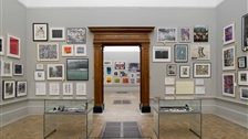 Royal Academy Summer Exhibition - View of Gallery II from Gallery I. Summer Exhibition 2011. Photo credit: John Bodkin, DawkinsColour