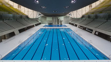 Aquatics Centre - Interior of the Aquatics Centre