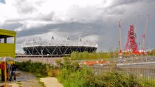 The Greenway - View of the Olympic Park from the Greenway