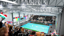 Water Polo Arena - CGI impression of the interior of the Water Polo Arena