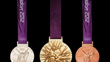 Mine to Medals - London 2012 Olympic medals, designed by British artist David Watkins. © LOCOG