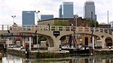 Phase Three: Bow Locks - View of Bow Locks and Canary Wharf