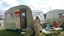 Diamond Jubilee Festival at Battersea Park - The Frilly Knicker caravan is taking part in the Classic Car Boot Sale