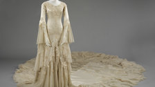 Wedding Dresses 1775-2014 - Silk satin wedding dress designed by Norman Hartnell 1933 given and worn by Margaret, Duchess of Argyll by Victoria and Albert Museum, London