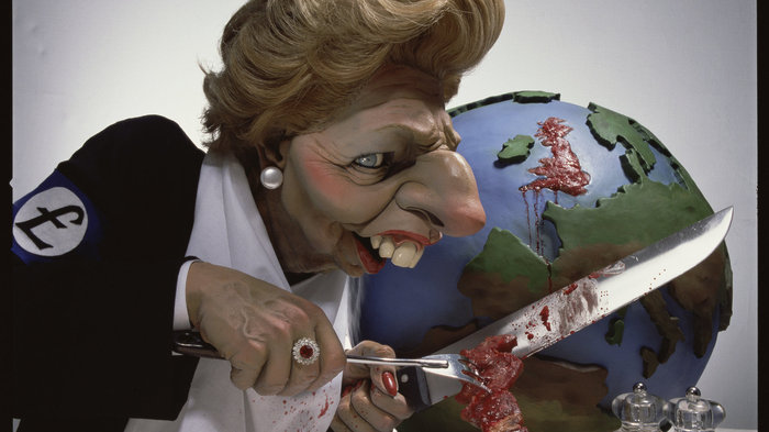Spitting Image - Thatcher Cutting Up Britain (c) Spitting Image