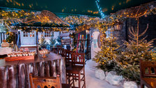 The Montague Ski Lodge at Christmas
