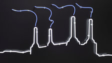 The Other Art Fair - Past Glories (Battersea Power Staton neon on aluminium), Michael Wallner
