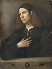 In the Age of Giorgione - Attributed to Giorgione, Portrait of a Young Man, c. 1505 by Museum of Fine Arts
