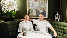 Michel Roux Jr and daughter Emily Roux at Le Gavroche