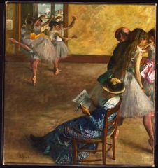 Inventing Impressionism - National Gallery - Hilaire-Germain-Edgar Degas, The Ballet Class, c.1880 by Philadelphia Museum of Art