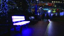 Winter Lights Festival - Lightbench and Heatbench by LBO Lichtbankobjekte