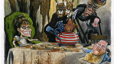 Alice in Cartoonland - Freeman Moxy - (c) Martin Rowson