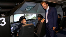 KidZania London Chairman Joel Cadbury in the Aviation Academy