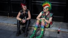 Festival of Love - Two punks girls, Blackpool, UK, 2012 © Farid Goual-YOUTH CLUB Archive
