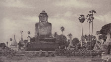 Captain Linnaeus Tripe: Photographer of India and Burma, 1852-1860 - Amerapoora Colossal Statue of Gautama Close to the North End of the Wooden Bridge