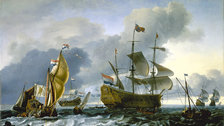 London 2015: Major Museums (July - December) - Dutch attack on the Medway The Royal Charles carried into Dutch Waters, 12 June 1667, Ludolf Backhuysen, 1667 (c) National Maritime Museum, London