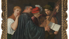 Frames in Focus: Sansovino Frames - The Music Lesson, about 1535, possibly by Titian by The National Gallery, London