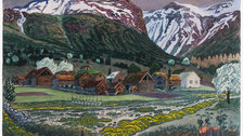 Painting Norway: Nikolai Astrup - Nikolai Astrup, Marsh Marigold Night, c.1915 by Dag Fosse / KODE