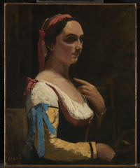 Painters' Paintings: From Van Dyck to Freud - Jean-Baptiste-Camille Corot, L'Italienne by The National Gallery, London