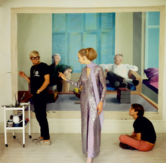 Vogue 100: A Century of Style - David Hockney, Peter Schlesinger and Maudie James by Cecil Beaton, 1968 by The Conde Nast Publications Ltd
