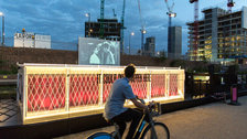 The Floating Cinema: Open Air Weekender: Humans in Space - Granary Square Kings Cross by Hydar Dewachi