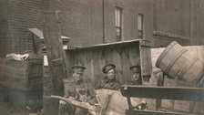 Easter Rising 2016 - Holles Street barricade 5th Leicesters 1916 (c) Sean Sexton Collection