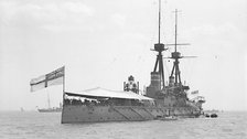 Jutland: The Battle and its Legacies - HMS Temeraire at 1909 Review (P00026) (c)National Maritime Museum, London