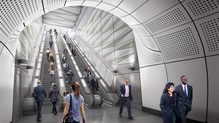 Liverpool Street station - proposed escalator at Moorgate ticket hall, 2018