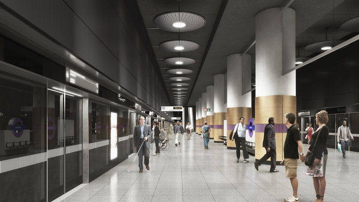 Woolwich Station - proposed platform, 2018