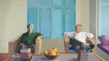 David Hockney - Christopher Isherwood and Don Bachardy 1968 (c) David Hockney