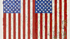 The American Dream: Pop to Present - Jasper Johns, Flags I, 1973 (c) Jasper Johns/VAGA