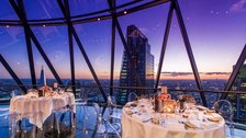 Hot Dates - Level 39 - The Gherkin, dinner at night