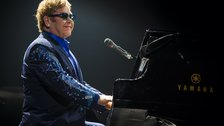 Elton John performs at Twickenham