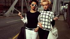 North: Fashioning Identity - Derrin Crawford and Demi Leigh Cruickshank in The Liver Birds, LOVE magazine, Liverpool, 2012 (c) Alice Hawkins