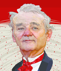 The World Illustration Awards - Bill Murray. Mark Twain Prize, courtesy of Tony Rodriguez