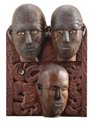Oceania - Tene Waitere, Ta Moko panel, 1896-99. Courtesy of National Museum of New Zealand Te Papa Tongarewa