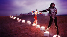 Michael Jackson: On the Wall - An Illuminating Path, 1998 by David LaChapelle. Courtesy of the artist