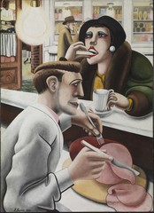 Aftermath: Art In The Wake Of World War One - Edward Burra The Snack Bar 1930 Tate © The estate of Edward Burra, courtesy Lefevre Fine Art, London