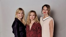 Touch - Amy Morgan (centre) with DryWrite Co-artistic Directors Vicky Jones and Phoebe Waller-Bridge