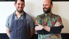 Westerns Laundry - Chef David Gingell (left) and manager Jeremie Cometto-Lingenheim