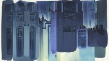 Anime Architecture: Backgrounds Of Japan - Background illustration for Ghost in the Shell by Hiromasa Ogura (c) 1995 Shirow Masamune, KODANSHA BANDAI VISUAL · MANGA ENTERTAINMENT Ltd